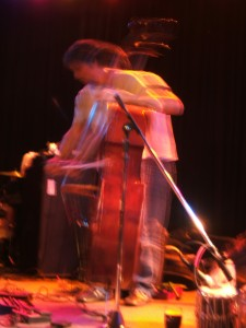 Matthew Golombisky on double bass