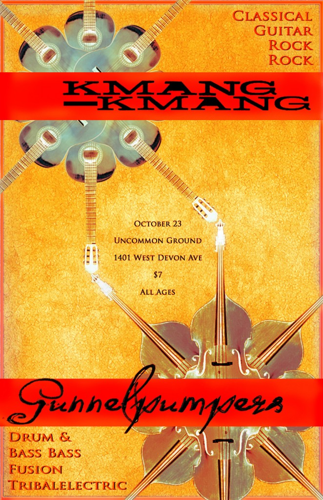 Poster for Gunnelpumpers and Kmang Kmang at Uncommon Ground 2011-10-23